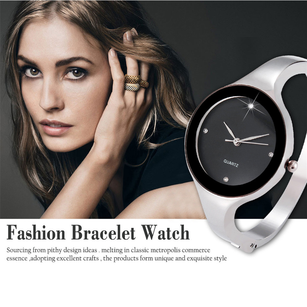 GEEKTHINK Luxury Brand Fashion Quartz Watch Women Ladies Stainless Steel Bracelet Casual Clock Female Women Dress Watches Gift new fashion watch women luxury brand quartz watch women stainless steel dress bracelet wristwatches hours female clock xfcs