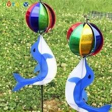 Радуга ветер Спиннер красочный ветряная мельница милый мультфильм животных Дельфин Winnower детская игрушка