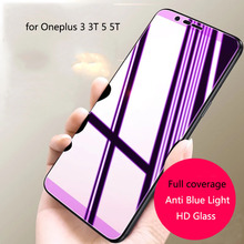 9H Full Screen HD Glass For OnePlus 5T 5 3 3T Screen Protector Tempered Glass Anti-Blu-ray Protective Film цена