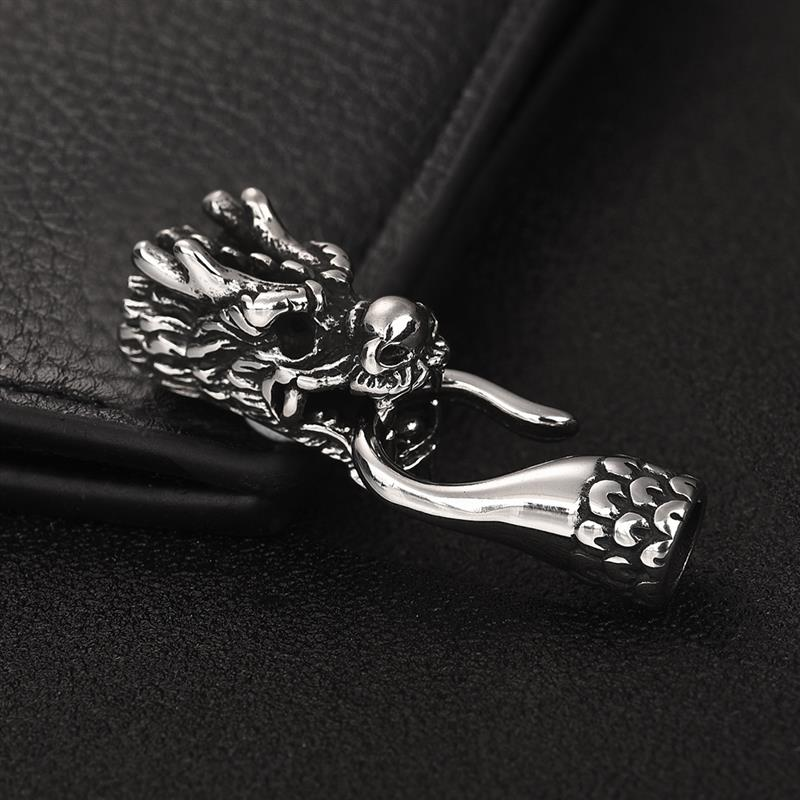316l Stainless Steel Dragon Head Clasps Bracelet Connector Hook For Bracelet Leather Jewelry Rope Jewelry Findings in Jewelry Findings Components from Jewelry Accessories