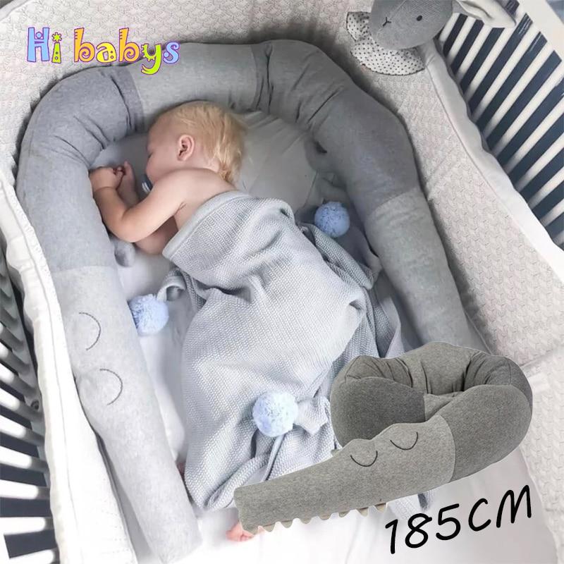 Comforting Newborn Crib Bumper Crocodile Pillow Baby Room Cushion Decor Toy Doll