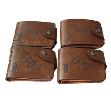 2019 Vintage Leather Hollow Out Men Wallet Thin Hasp Trifold Billetera Hombre 3 Fold Short Anime Clutch Boy Clamp Purse New Sale