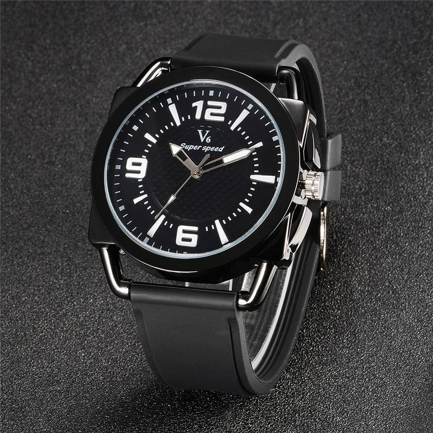 2016 Men's Watches Top Brand Clock Male Watch Fashion Casual Rubber Strap Wristwatches Sport Quartz-Watch Men Relogio Masculino