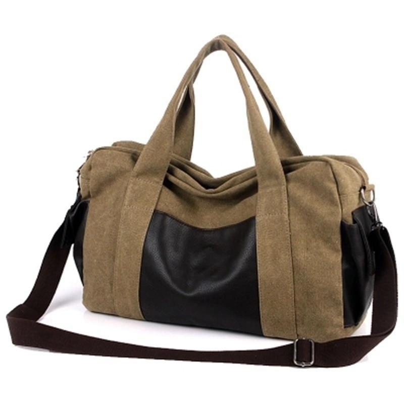 Canvas Gym Bag Men Women Sports Bag For Fitness Outdoor Traveling Handbags Durable Multifunctional Training Shoulder Bag
