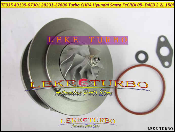 Turbo chra cartridge Turbolader TF035 49135-07302 49135-07300 49135-07100 28231-27800 For Hyundai Santa Fe D4EB 2.2L CRDi 150HP gt1749s turbolader 716938 5001s turbo core 716938 turbo 28200 42560 2820042560 turbo chra for hyundai h 1 hyundai starex