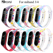BOORUI interchangeable straps for miband 4 wrist strap for Xiaomi mi band 3 sport Silicone Bracelet for xiaomi miband 3/4 bands