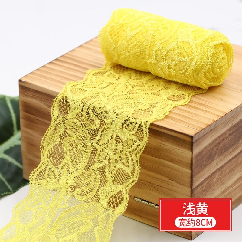 HTB1zdSVbznuK1RkSmFPq6AuzFXa3 8cm Spandex Lace Elastic Crafts Sewing Ribbon White Black Stretch Lace Trimming Fabric Knitting Material DIY Garment Accessories