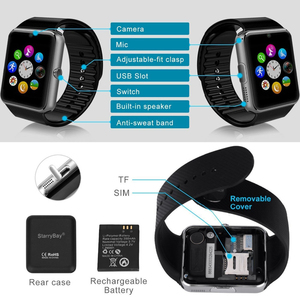 Image 2 - 2019 Bluetooth חכם שעון תמיכה 2G SIM TF כרטיס מצלמה Smartwatch PK X6 Z60