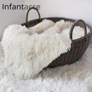 Фон для фотосъемки новорожденных, реквизит для фотосъемки, подставка для фотосъемки, тканевая подставка, одеяло из искусственного меха, кор...