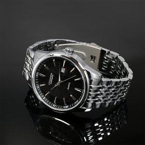 Image 3 - Montres hommes haut de gamme de luxe Curren hommes en acier inoxydable analogique Date Quartz montre décontractée montres bracelets Relogio Masculino