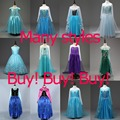 High Quality Girl Dresses Princess Children Clothing Anna Elsa Cosplay Costume Kid's Party Dress Baby Girls Clothes