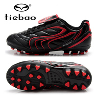 TIEBAO Brand Professional Outdoor Children Kids Football Shoes Athletic Boys Girls Shoes AG Sole Soccer Boots