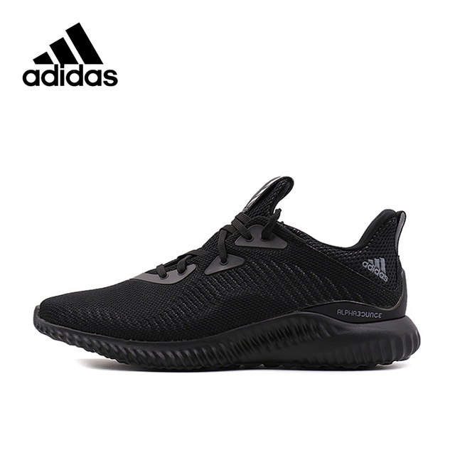 15e0b0adeb0b1 Adidas Original New Arrival Authentic Alpha Bounce Breathable Men s Running  Shoes Sports Sneakers BW0539 BW0544