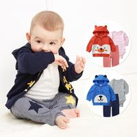 2019 Korean Newborn Baby boy and girl Clothes bodysuit Baby Three piece suit cute pure Cotton Coat infant clothing