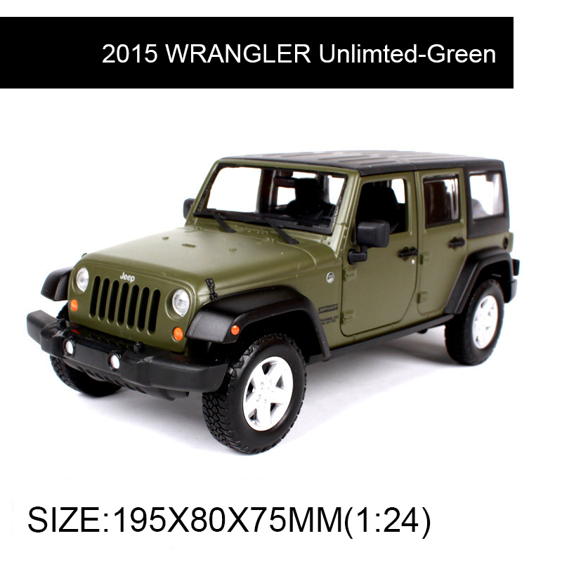 1:24 Diecast modelo 2015 WRANGLER aleación de naranja sin limite - Vehículos de juguete para niños - foto 2
