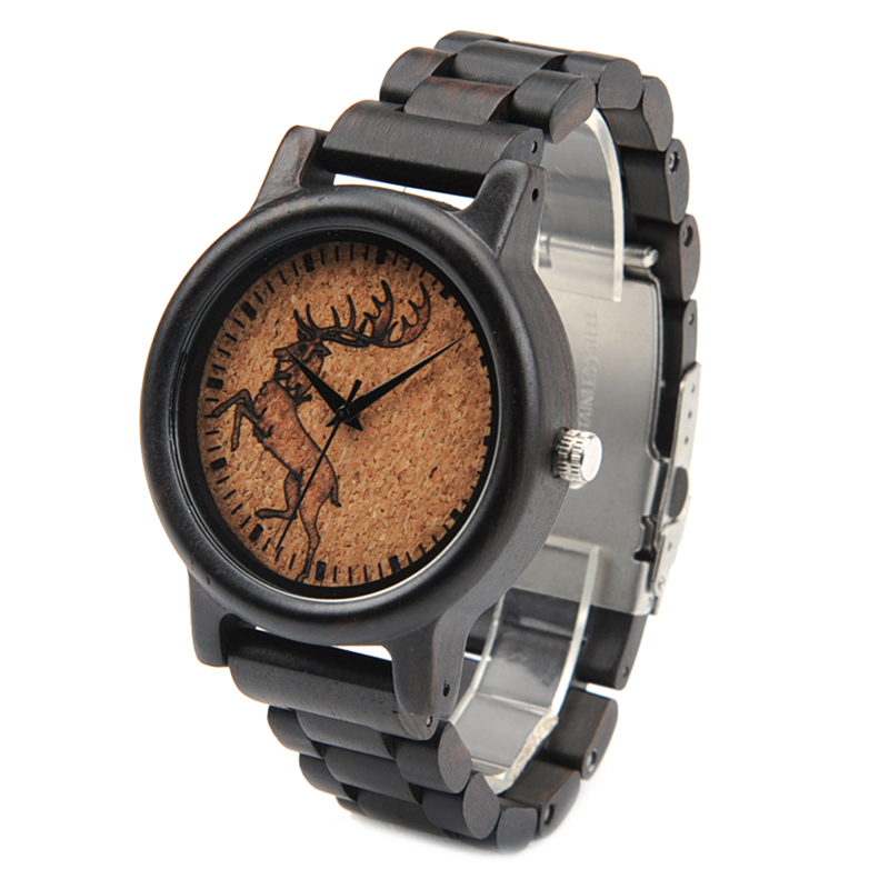 2017 New Arrival Fashion BOBO BIRD Watch Men Black Wood Wristwatches Wooden Strap Quartz Watch Gifts relogio feminino (4)