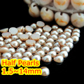 AAA+ Light Peach Color 1.5mm,2mm,3mm,4mm,5mm,6mm,8mm,10mm,12mm Flat back ABS plastic round Half Pearls beads.