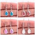 """Orange Blue Pink White Fire Opal Silver Earrings Wholesale Retail Fashion for Women Jewelry Dangle Earrings 1 1/4"""" OH3101-04"""