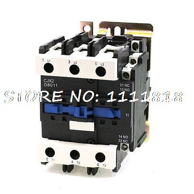 24V Rated Coil Voltage 3 Phase 1NO+1NC CJX2-8011 Alernating Current Contactor rated current 50a 3poles 1nc 1no 110v coil ith 80a ac contactor motor starter relay din rail mount