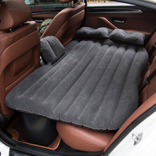 142*88cm Car Air Inflatable Mattress Travel Bed Universal for Auto Back Seat Sofa Pillow Outdoor Camping Mat Cushion For Kids цена 2017
