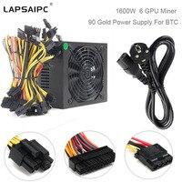 La[saipc 1600W Power Supply 90 Gold Miner For ATX Mining Machine Support 6 Pieces Graphics Card GPU Miner Antminer