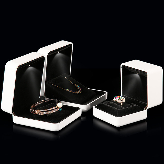 Aliexpresscom Buy New Style White Rubber Painint LED Jewelry Box