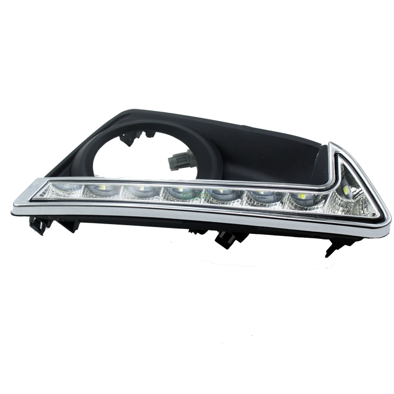 LED Daytime Running Lights DRL, LED Fog Lamp for Toyota MARK X REIZ 2013 2014 2015 ON 1:1 akd car styling led drl for toyota reiz 2012 2013 mark x eye brow light led external lamp signal parking accessories