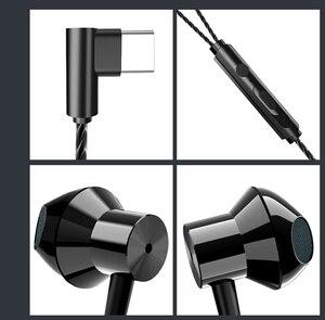 Image 4 - HiFi USB Tai Nghe Nhét Tai Tai Năng Động Loại Ổ Đĩa C Tai Nghe Chụp Tai Bass Kim Loại Thể Thao Tai Nghe Chuyên Game Có Mic Cho Oneplus xiaomi Huawei P30 Pro