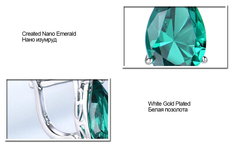 UMCHO-Emerald-925-sterling-silver-clip-earrings-for-women-EUJ086E-1-PC_07
