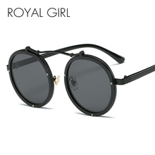 Royal Girl 2019 Retro Steampunk Sunglasses Round Designer St