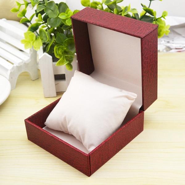 Gratis forsendelse Rød karton Urkasse Engros Fashion Watch Gaveæske Nye smykker opbevaringsbokse
