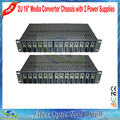 Best Quality 2U 14 Slots 19 inch Rack Mount Chassis Dual Power Supply Optical Fiber Media Converter Chassis upto 14 Slots