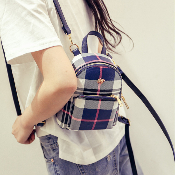 ФОТО backpack In spring 2017 New England Plaid   Mini fashion trend of the small South Korea tide bag FREE SHIPPING