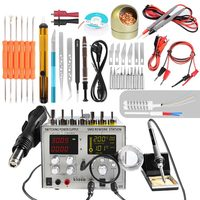 4in1 Hot Air Rework Station + Soldering Iron Station + 30V 5A DC Switching Power Supply Electric Soldering Iron For Welding