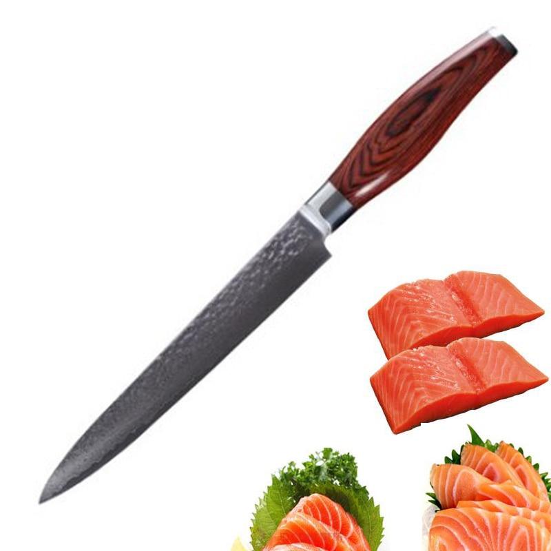 Liang da 8 39 39 acero inoxidable cocina de acero de damasco for Cuchillo fruta