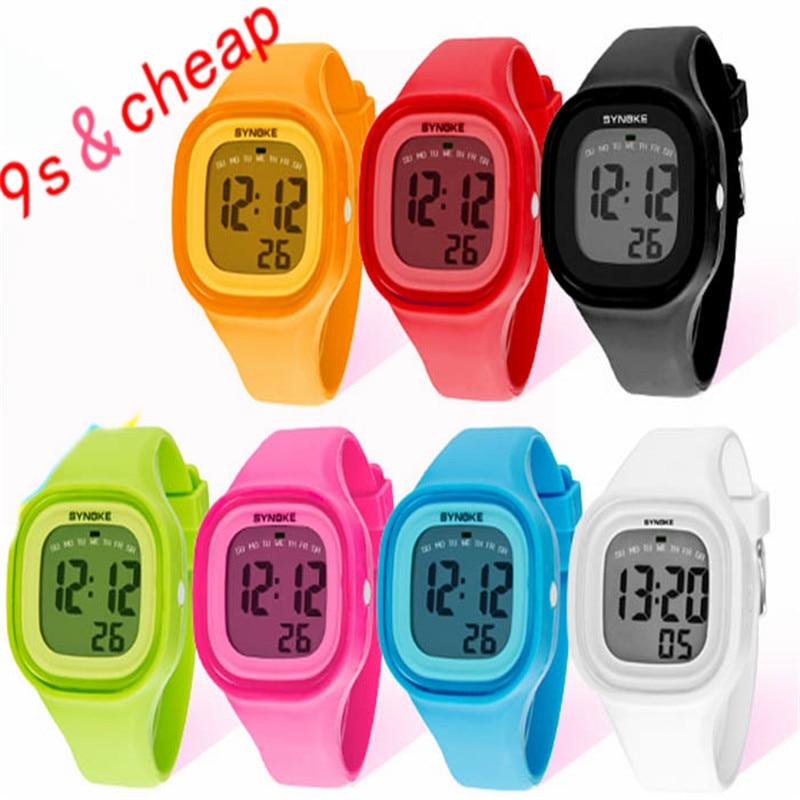 Fashion Silicone LED Light Digital Sport Wrist Watch Kid Women Girl Men Boy 3412 Brand New