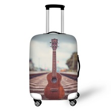 Travel Accessories Suitcase Protective Covers 18-32 Inch Elastic Luggage Dust Cover Case Stretchable Music Violin Guitar