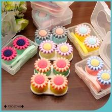 Holder Case Lenses-Box Contact Sunflower Travel Mini Lymouko Portable Women Cute