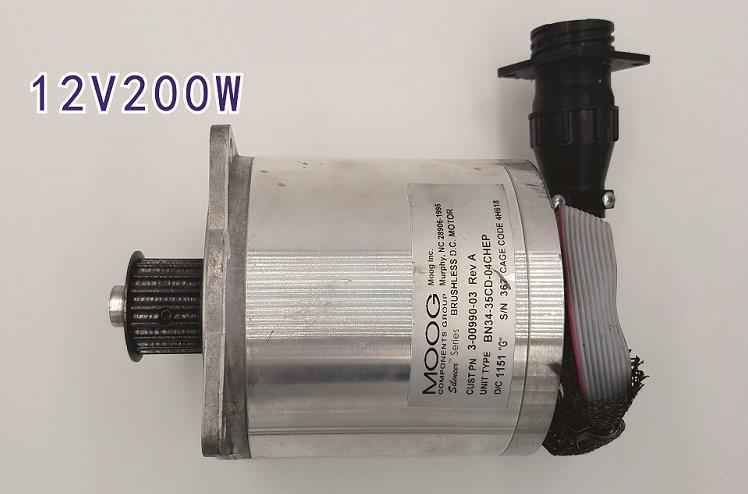 12 V-24 V 1600-3500 RPM 200 W servomoteurs DC sans brosse avec encodeur magnétique de terres rares/outils électriques de machines/accessoires de bricolage