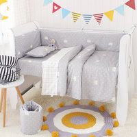 Кроватка для новорожденного комплект кроватки бампер Постельное белье младенческой кроватки Мягкий Хлопок Дети накладка на перила кроват