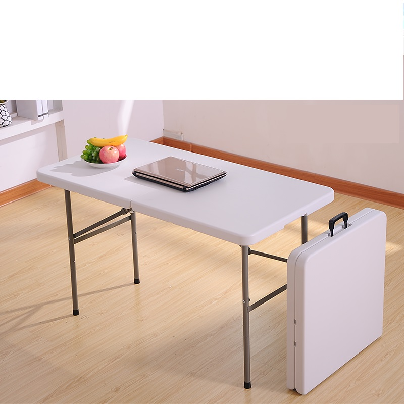 Household folding dining table Simple stall Portable office learning Long table Multifunctional publicity table Fold
