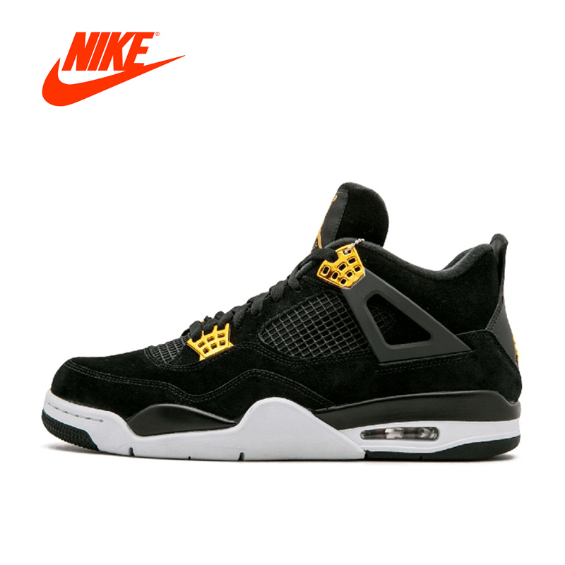 New Original Authentic Nike Air Jordan 4 Laser AJ4 Breathable Men's Basketball Shoes Sports Sneakers Jordan-shoes nike nike air jordan 1 mid original girl kids basketball shoes children causal skateboarding sneakers