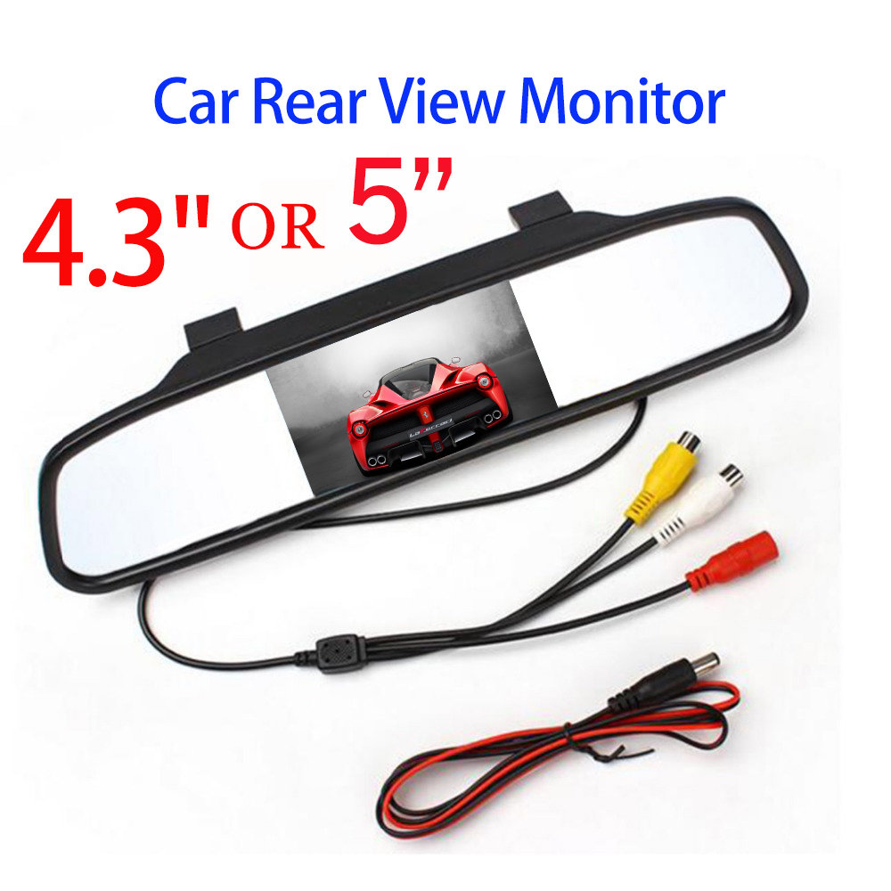 SINOVCLE Car Rearview Mirror Monitor HD Video Auto Parking Monitor TFT LCD Screen 4.3 Or 5 Inch Display With Retail Box(China)