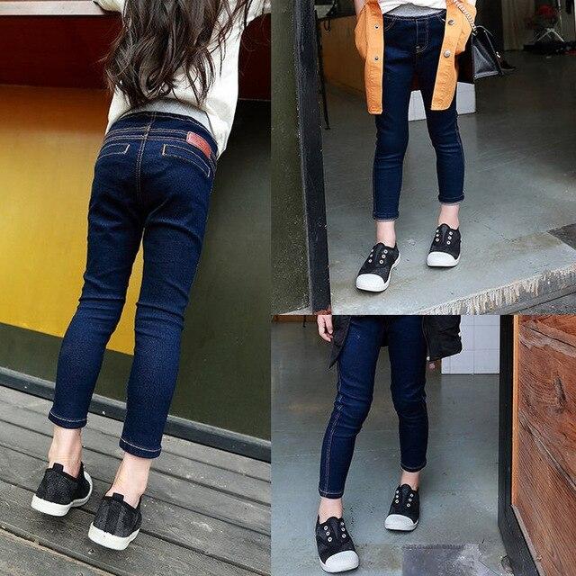 6378b71f37 US $13.28 |V TREE Primavera Jeans Stretti delle Ragazze Dei Bambini  Trausers Skinny Jeans Per Adolescenti Ragazza Capretti Del Denim Dei  Pantaloni ...