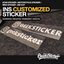 Adesivo per paraurti per auto e moto riflettente impermeabile personalizzato con nome utente di Instagram fustellato personalizzato