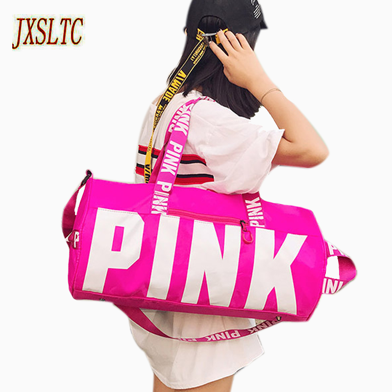 NEW hot-sale fashion girl travel duffle bag pink Victoria beach shoulder bag large capacity secret Overnight weekender bag