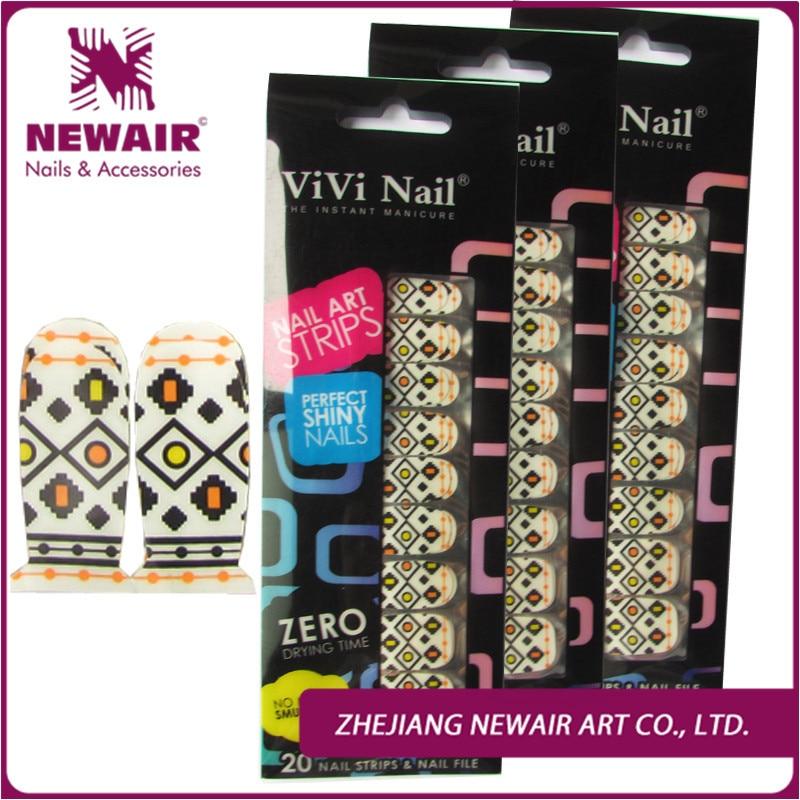 Top Grade Brand 100% Nail Polish Strips Sample Geometric Pattern ...