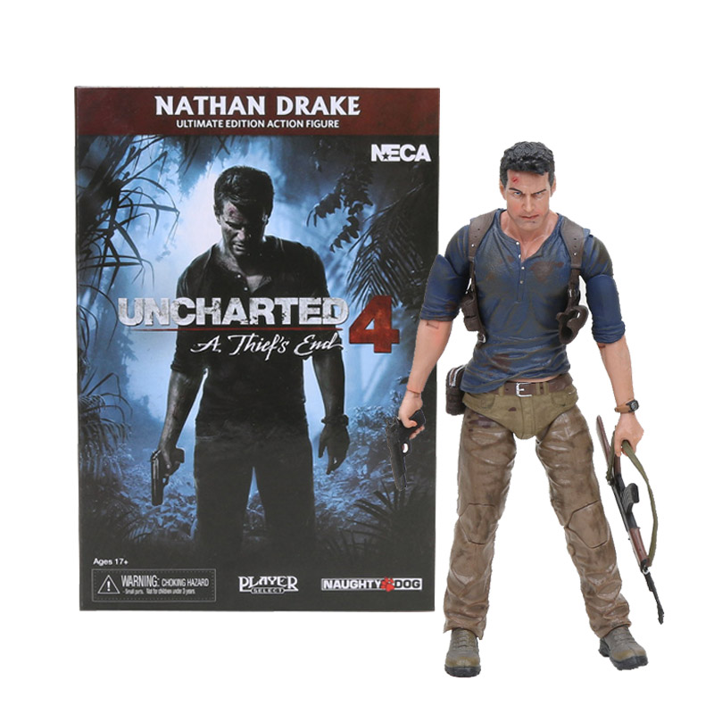 15cm NECA Uncharted 4 A thief's End Figures Nathan Darke Ultimate Edition PVC Action Figure Collectible Model Toy For Gifts-in Action & Toy Figures from Toys & Hobbies