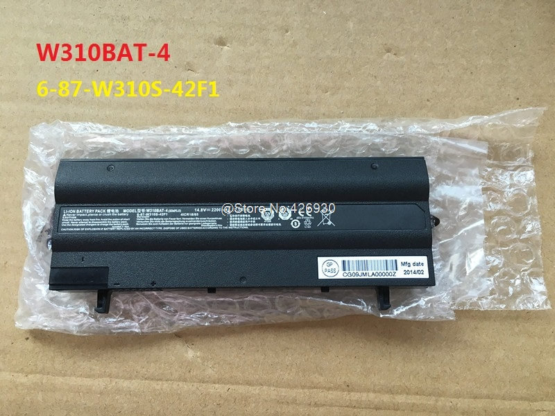 Laptop Battery For CLEVO W130 W310BAT-4 6-87-W310S-42F1 14.8V 2200mAh New and Original hsw brand new 6cells laptop battery c4500bat 6 c4500bat6 6 87 c480s 4p4 for clevo c4500 series laptop battery bateria akku