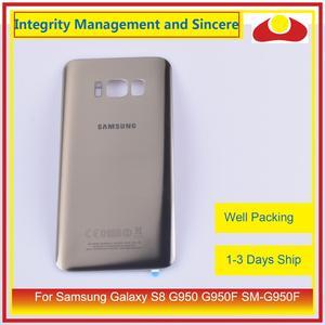 Image 2 - 10 pièces/lot pour Samsung Galaxy S8 G950 G950F SM G950F boîtier batterie porte arrière en verre housse châssis coque